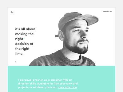 Portfolio - new website art direction green redesign ux ui portfolio