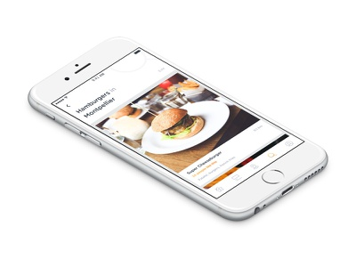 Searching for food ux ui result browse search burger app food