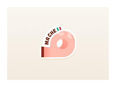 Ma che  mule stickermule stickers sticker hand ma che italian illustration