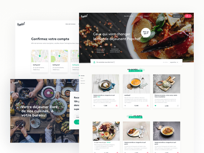 Popchef - Ecommerce restaurant card cart meal dishes food ux ui ecommerce