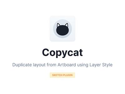 Copycat Sketch Plugin open source layer app icon neko download black cat sketch plugin sketch app icon layer styles artboard layout duplicate cat copy copycat plugins plugin sketchapp sketch