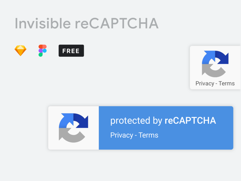Google Invisible reCAPTCHA Library - Sketch and Figma Freebie
