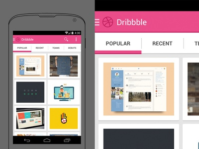 Dribbble Android Holo android holo concept ui user interface kitkat jelly bean google mobile