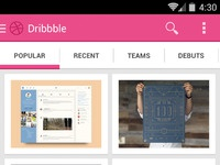 Azh android dribbble concept