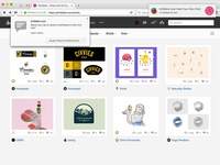 #MakeItBetter: Dribbble browser notification