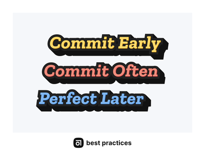 Abstract Best Practices Poster abstract commit best practices minimalist typography poster poster design typogaphy poster