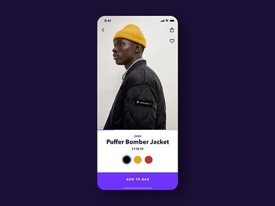 Add to Bag Interaction vakkorama website webdesign ecommerce add to bag prototype figmadesign figma apple iphone design interaction principle app mobile ux ui sketch