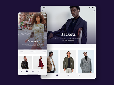 Product Listing Page ecommerce ios ipad tablet fashion figma principle app mobile ui ux apple iphone sketch