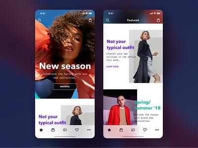 Homepage on iPhone vakkorama ecommerce figma fashion ios interaction principle app sketch mobile ux ui apple iphone