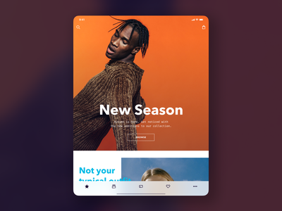 Homepage apparel ecommerce fashion application vakkorama app design ipad app ios figma interaction principle mobile ui ux apple iphone sketch