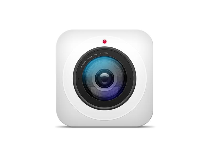 Skeuomorphic Camera Icon photo photography skeuomorphic ios apple icon camera