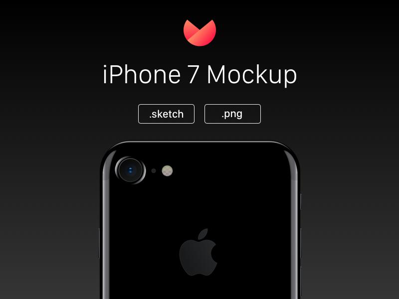 Free iPhone 7 Mockup mockup sketch apple iphone 7 iphone