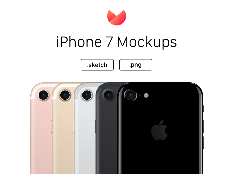 iPhone 7 Mockups - All Colors png sketch mockup apple iphone 7 iphone7 iphone