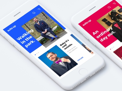 suits up - Fashion E-Commerce App Concept ux ui mobile iphone fashion apple app