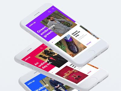 suits up - Fashion E-Commerce App Concept ux ui mobile iphone fashion apple app