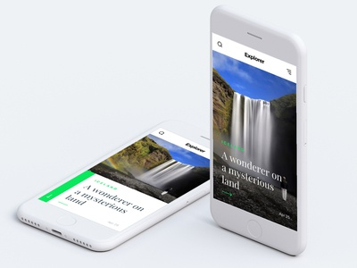 Explorer - Travel Blog Design ux ui travel nature mobile iphone blog apple