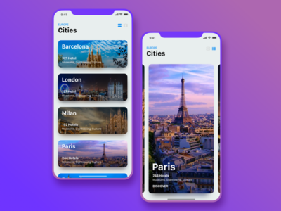 Travel App Concept for iPhoneX explore city sketch iphone booking travel apple iphonex