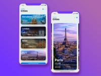 Travel App Concept for iPhoneX