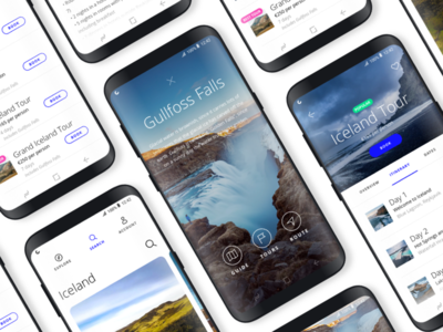 App Concept for Samsung Galaxy 8 samsung ux interaction design travel ui