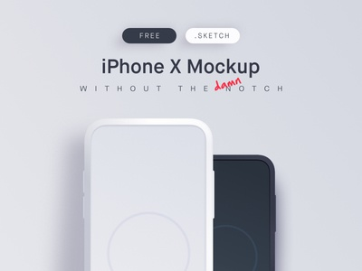 Free iPhone X Mockup ux ui design sketch free mockup notch iphone