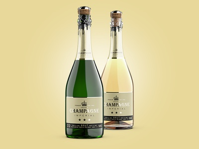 Premium Champagne Mockup