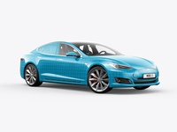 Tesla Model S Electric Car Mockup