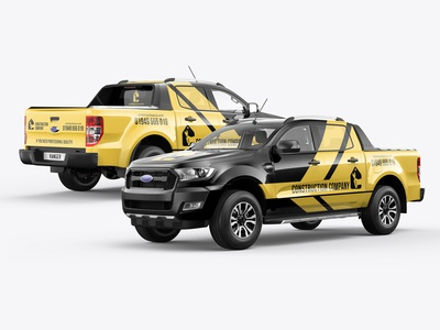 Ford Ranger Pickup Truck Mockup