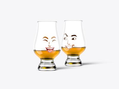 Massive Whiskey Mockup Bundle - Glencairn glasses