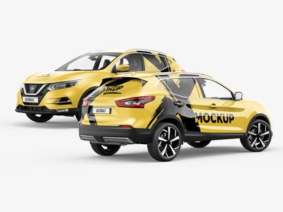 Nissan Qashqai / Rogue Sport SUV Mockup