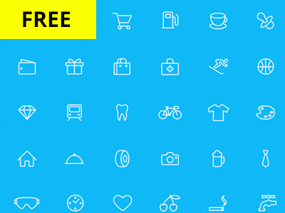 66 Line Icon Set icons psd ai free icons icon pack icon set