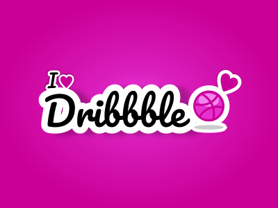 I love dribbble Sticker free playoff dribbble sticker