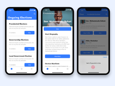Voting app - Case study IOS voting vote ux case study ux case study voting app