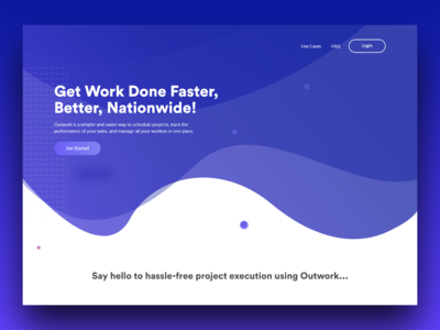 Outwork Website design blue landing page design landing  page awesome design adobexd