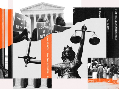 231 red black news editorial civil rights justice judiciary courts politics trump editorial illustration collage illustration