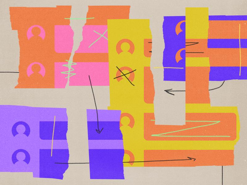 233 climate change social media scribbles torn paper onezero medium editorial illustration collage illustration