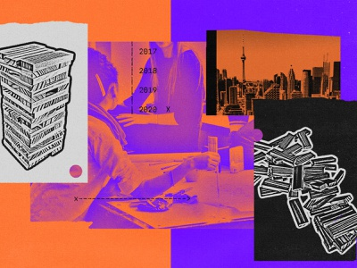 243 surveillance onezero toronto medium google big data tech urbanism editorial illustration collage illustration