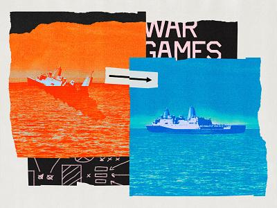 255 warfare war jacobin print editorial illustration collage illustration