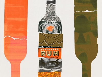 261 report health bottles alcohol print cover collage illustration