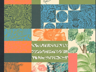 269 patterns floral william morris plants collage illustration