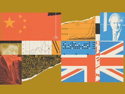 285 foreign affairs politics geopolitics china uk lo-fi editorial illustration collage illustration
