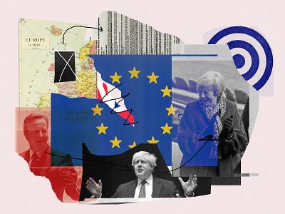 Brexit Shitstorm economics politics brexit collage editorial illustration illustration