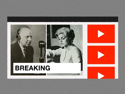 Google DNI   2005: CNN launches its Youtube channel online streaming cable news news network tv cnn youtube collage editorial illustration illustration
