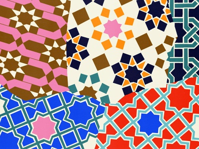 killed pattern design pattern geometric illustration torn geometric bright colors patterns istanbul islamic art tilework tiles