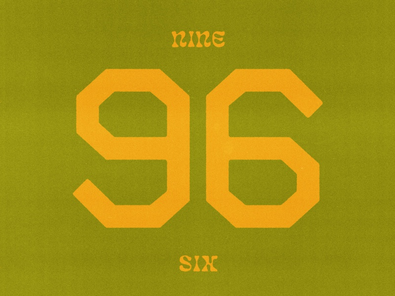 nine six letters numerals type design typography typeface type