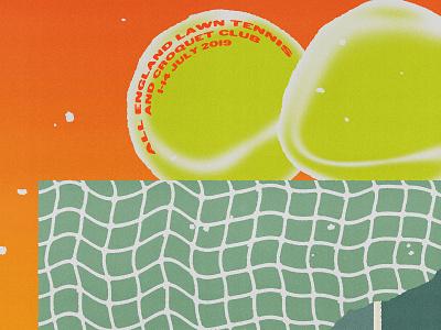 wimbledon tennis ball court net green orange yellow poster sports grass lawn wimbledon tennis