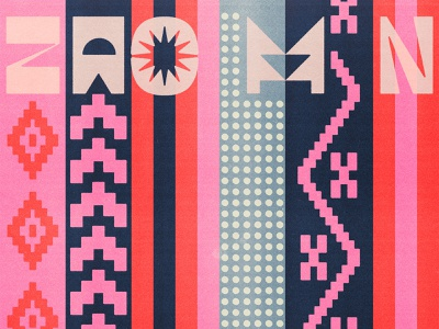 173 stripes reverse contrast type design blue red pink geometric patterns display type lettering type typography