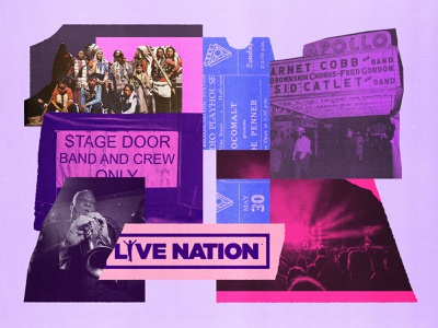 195 tour concert live music venue touring industry bands music editorial illustration collage illustration