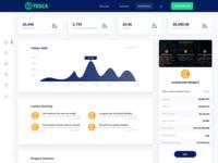 Dashboard for ICO Owner - TESCA Platform