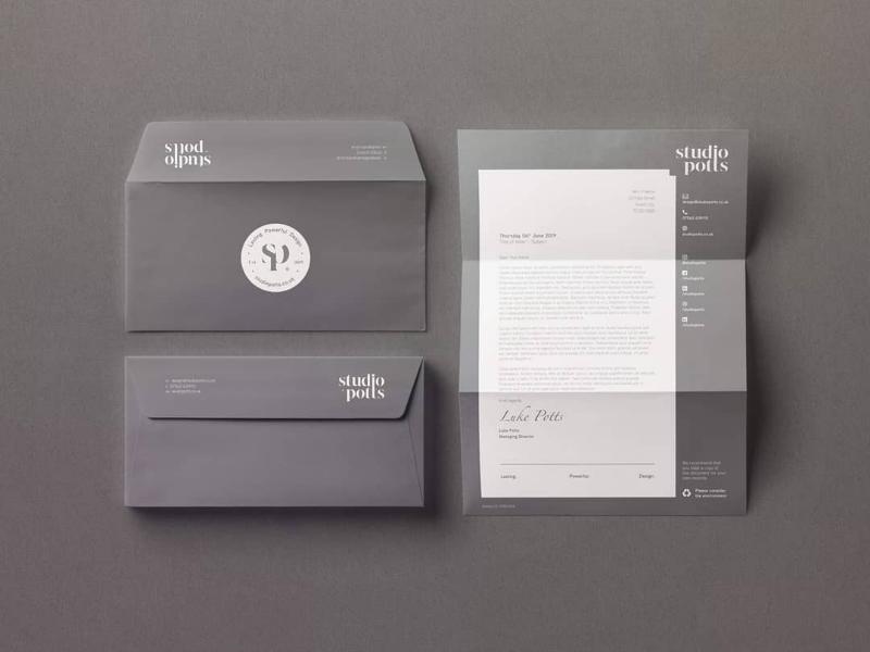 Studio Potts: Letterhead & Envelope Design typography type studio logo designer logo design logo graphic design design branding brand strategy brand identity brand