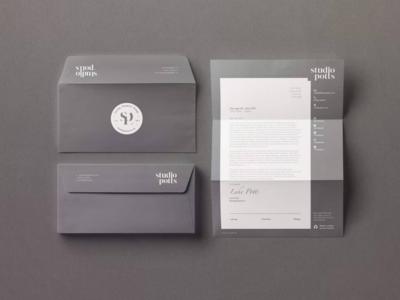 Studio Potts: Letterhead & Envelope Design